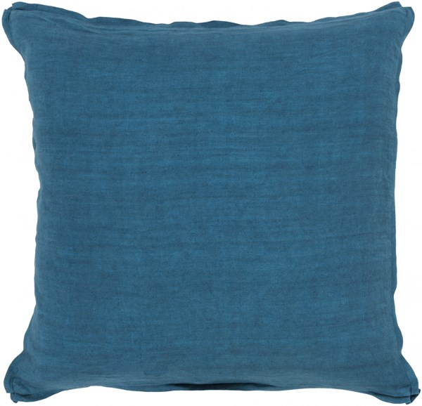 Solid Contemporary Teal Fabric Throw Pillow (L 20 X W 20 X H 5) SL006-2020P