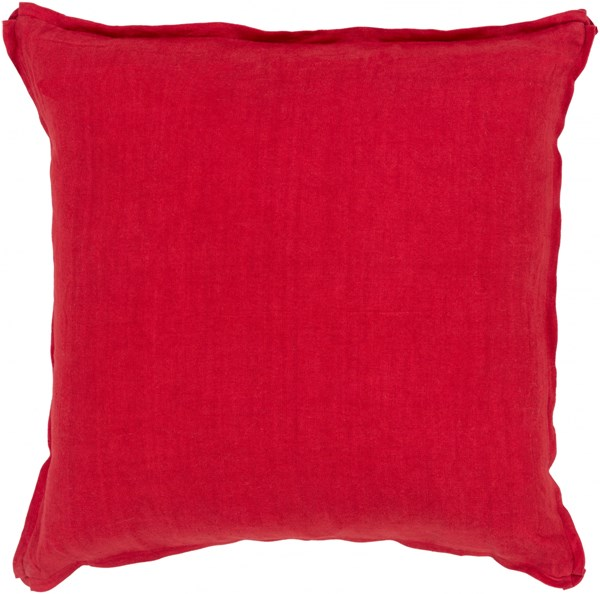 Solid Cherry Fabric Throw Pillow (L 22 X W 22 X H 5) SL007-2222P