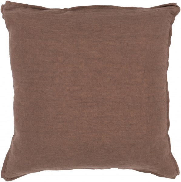 Solid Taupe Fabric Throw Pillow (L 18 X W 18 X H 4) SL008-1818P
