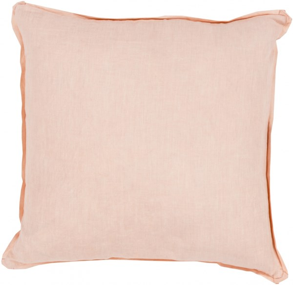 Solid Pastel Pink Fabric Throw Pillow (L 18 X W 18 X H 4) SL009-1818P