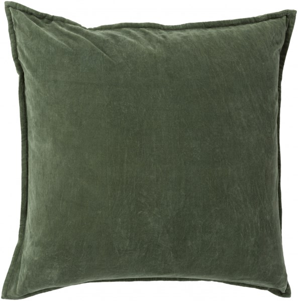 Solid Olive Fabric Throw Pillow (L 22 X W 22 X H 5) SL011-2222P