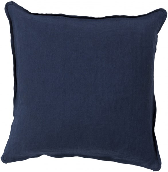 Solid Navy Fabric Throw Pillow (L 18 X W 18 X H 4) SL012-1818P