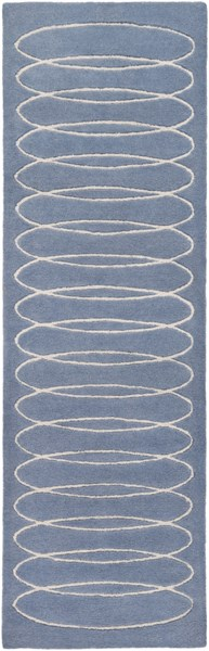 Solid Bold Contemporary Slate Ivory Fabric Runner (L 96 X W 30) SLB6801-268