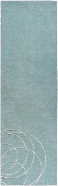 Solid Bold Contemporary Gray Ivory Fabric Runner (L 96 X W 30) SLB6817-268