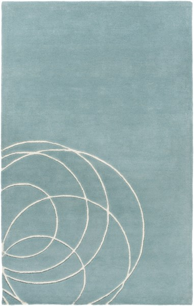 Solid Bold Contemporary Gray Ivory Fabric Area Rug (L 90 X W 60) SLB6817-576