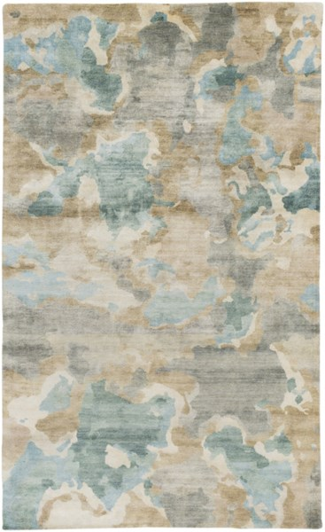 Slice Of Nature Modern Slate Ivory Olive Fabric Area Rug (L 96 X W 60) SLI6407-58