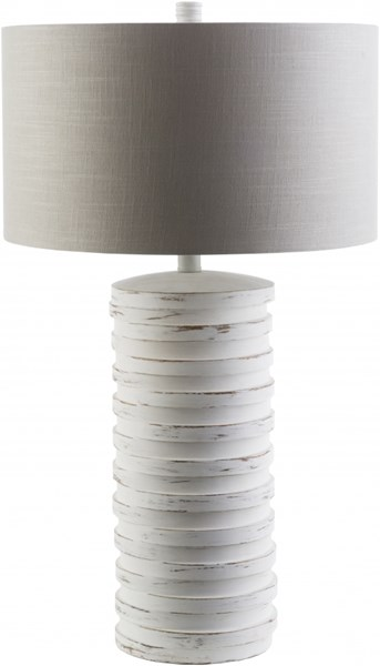 Sulak Contemporary Sandstone Resin Polyester Fabric Table Lamps 13948-VAR1