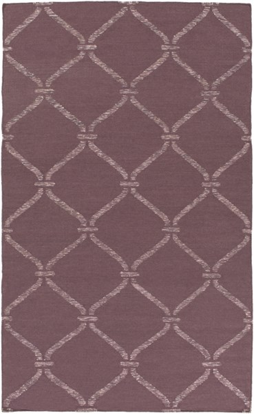 Stallman Contemporary Mauve Light Gray Fabric Area Rug (L 90 X W 60) SLM1002-576