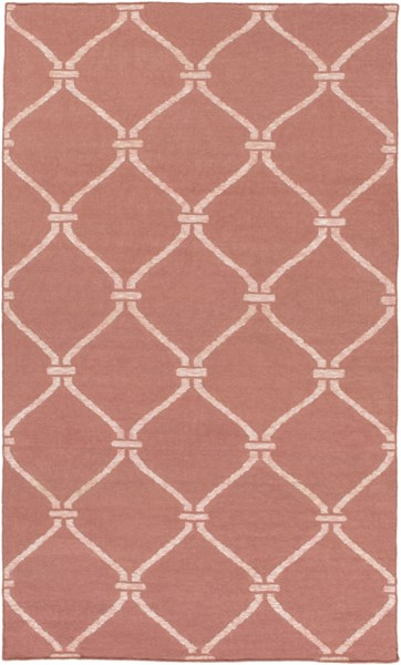 Stallman Contemporary Salmon Light Gray Fabric Area Rug (L 90 X W 60) SLM1003-576