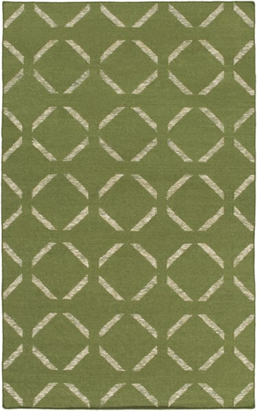Stallman Forest Ivory Wool Viscose Cotton Area Rug - 60 x 90 SLM1013-576