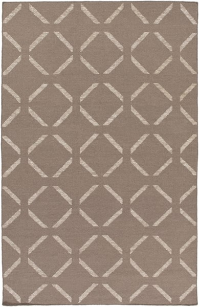 Stallman Contemporary Taupe Light Gray Fabric Area Rug (L 90 X W 60) SLM1014-576