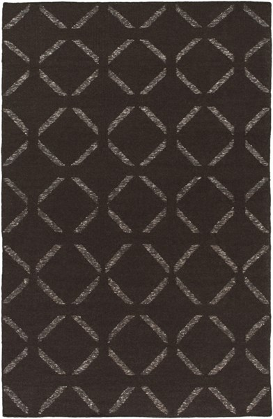Stallman Chocolate Ivory Wool Viscose Cotton Area Rug - 60 x 90 SLM1016-576