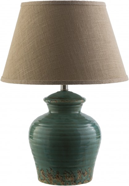 Schilly Dark Blue Ceramic Burlap Table Lamp - 17x23.5 SLY267-TBL