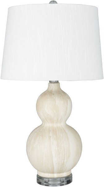 Surya Semmes Cream Ceramic Table Lamp - 14x24.50 SME-002