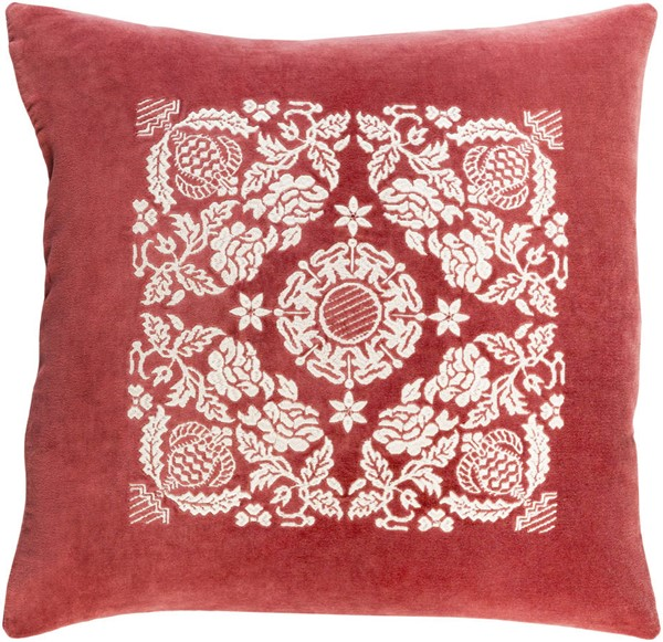 Surya Smithsonian Garnet Cream Down Pillow - 20x20 SMI004-2020D