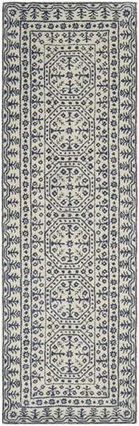 Smithsonian Contemporary Beige Navy Fabric Runners 1583-VAR1