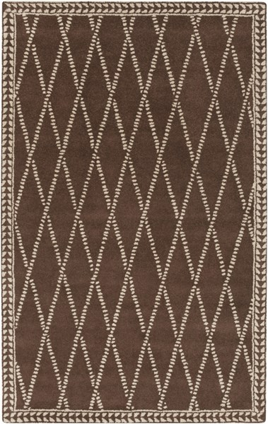Stampede Chocolate Taupe Wool Area Rug - 60 x 96 SMP6003-58