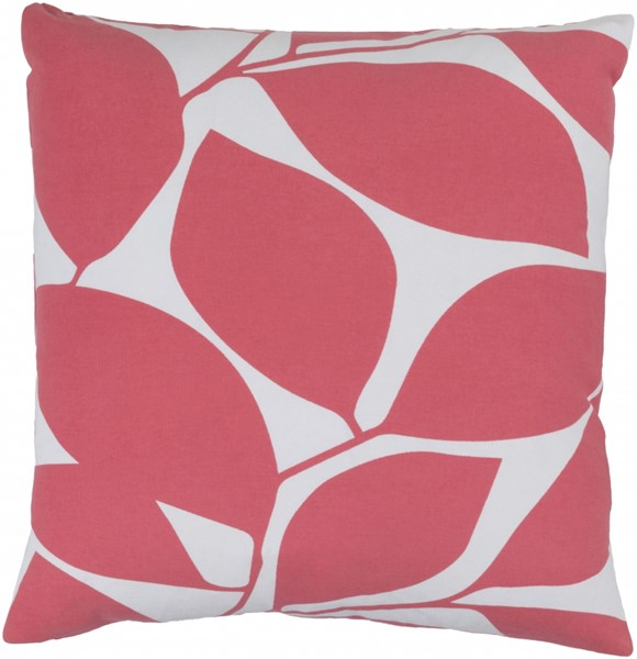 Somerset Hot Pink Gray Fabric Throw Pillow (L 18 X W 18 X H 4) SMS005-1818P