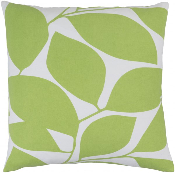 Somerset Light Gray Lime Fabric Throw Pillow (L 22 X W 22 X H 5) SMS007-2222D