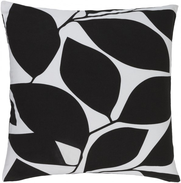 Somerset Black Light Gray Fabric Throw Pillow (L 22 X W 22 X H 5) SMS010-2222P
