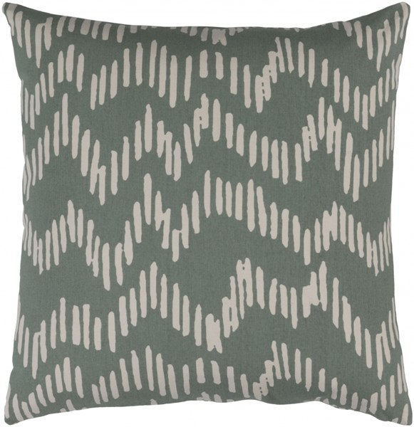 Somerset Moss Beige Fabric Square Throw Pillow (L 20 X W 20 X H 5) SMS012-2020P