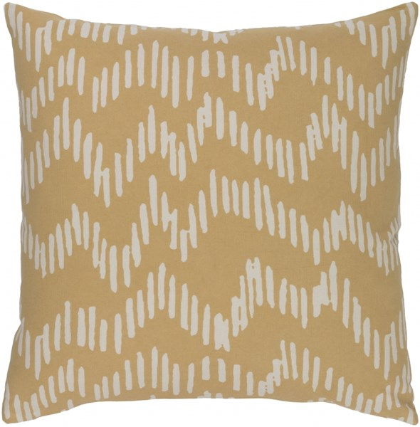 Somerset Mocha Beige Fabric Poly Throw Pillow (L 18 X W 18 X H 4) SMS014-1818P
