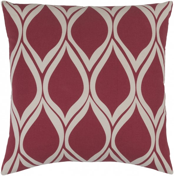 Somerset Cherry Gray Fabric Throw Pillow (L 22 X W 22 X H 5) SMS016-2222P
