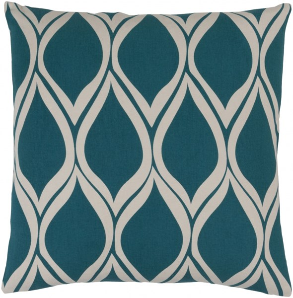 Somerset Teal Gray Fabric Throw Pillow (L 20 X W 20 X H 5) SMS017-2020P
