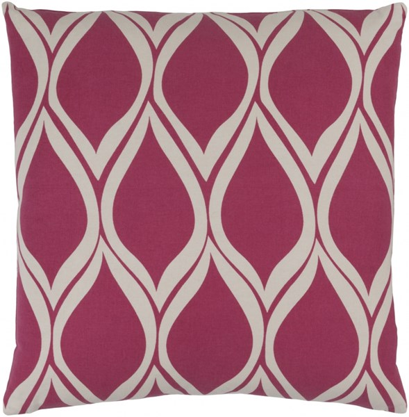 Somerset Pink Gray Fabric Throw Pillow (L 18 X W 18 X H 4) SMS018-1818P