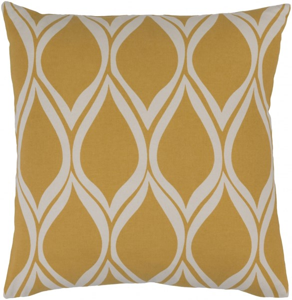 Somerset Gray Gold Fabric Throw Pillow (L 18 X W 18 X H 4) SMS019-1818P