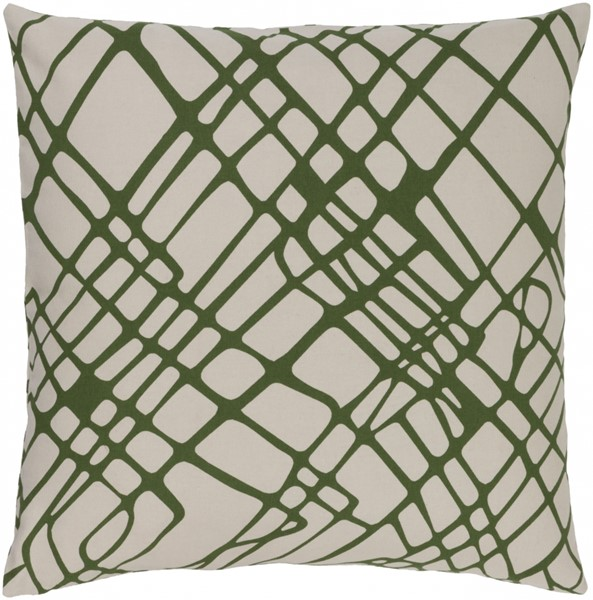 Somerset Olive Ivory Fabric Throw Pillow (L 18 X W 18 X H 4) SMS021-1818D