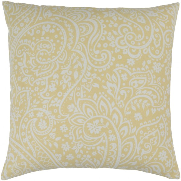 Somerset Butter Ivory Fabric Square Throw Pillow (L 22 X W 22 X H 5) SMS026-2222P