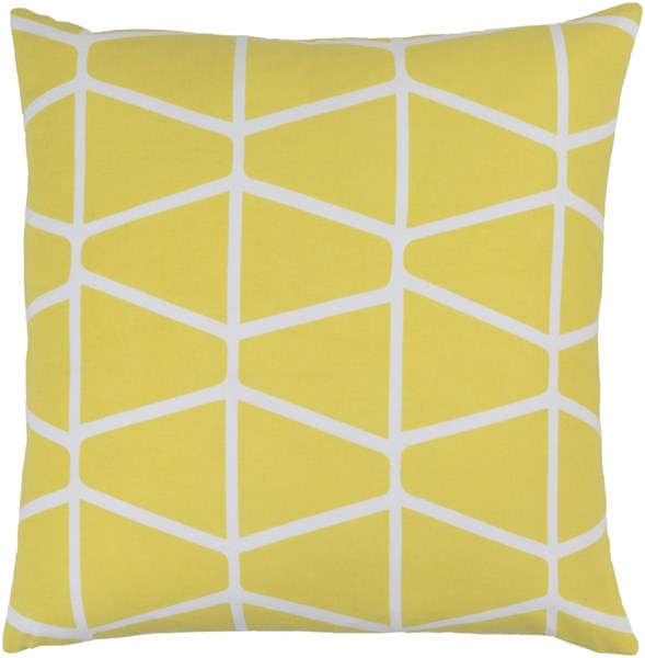 Somerset Lime Ivory Fabric Throw Pillow (L 22 X W 22 X H 5) SMS030-2222D