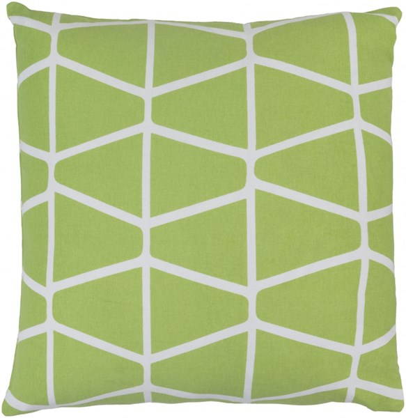 Somerset Ivory Lime Fabric Throw Pillow (L 18 X W 18 X H 4) SMS031-1818D