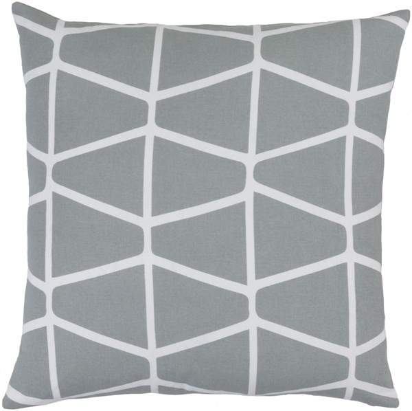 Somerset Gray Ivory Fabric Geometric Throw Pillow (L 18 X W 18 X H 4) SMS033-1818P