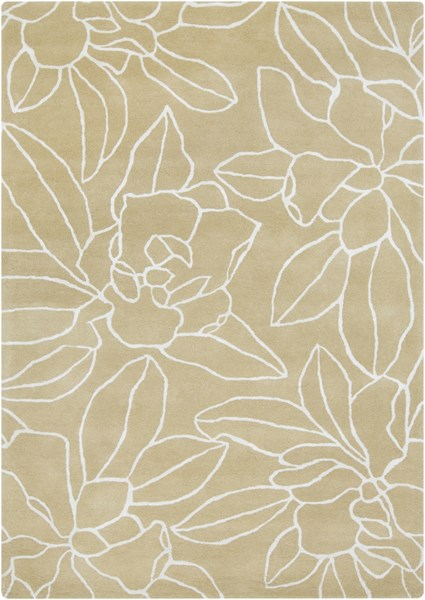 Sanderson Contemporary Beige Fabric Hand Tufted Area Rug SND4522-58