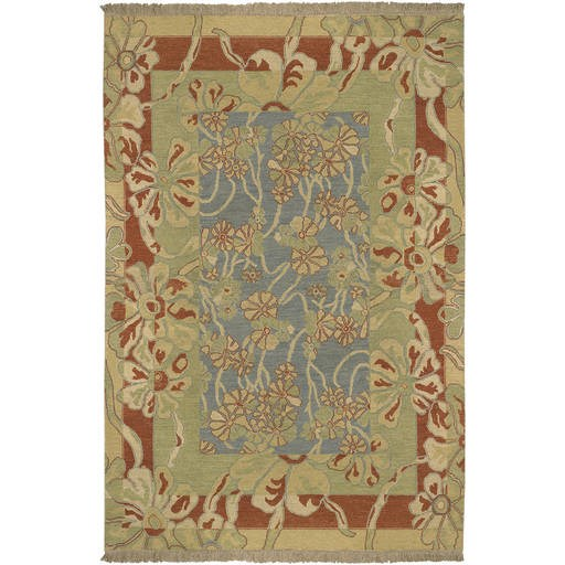 Sonoma Flat Pile L 108 X W 72 Rectangle Wool Rug SNM-8981 SNM8981-69