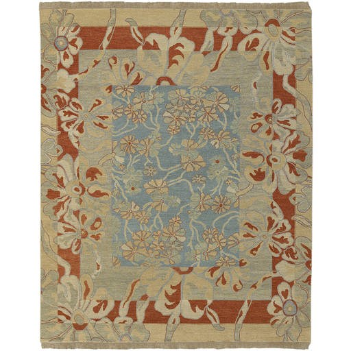 Sonoma Transitional Blue Rectangle Wool Rug SNM8981-VAR