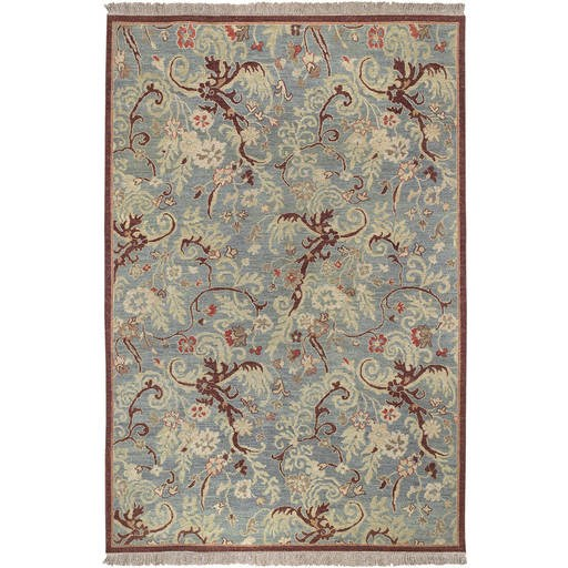 Sonoma Flat Pile L 108 X W 72 Rectangle Wool Rug SNM-8989 SNM8989-69