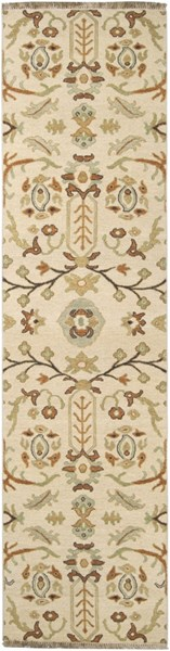Surya Sonoma Tan Dark Brown Ivory Wool Runner - 120x30 SNM9002-2610