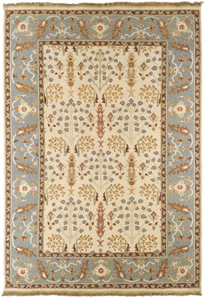 Surya Sonoma Khaki Aqua Orange Wool Area Rug - 36x24 SNM9008-23