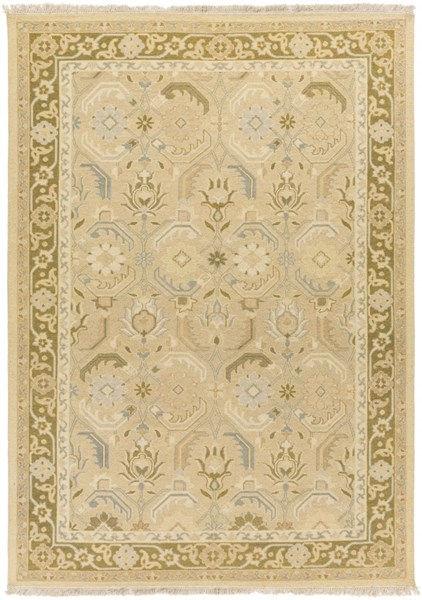 Sonoma Ivory Olive Beige Taupe New Zealand Wool Area Rug - 72 x 108 SNM9037-69