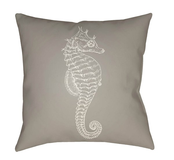 Surya Seahorse Beige White Pillow Cover - 18x18 SOL056-1818