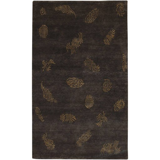 Sonora Transitional Black Brown Wool Rug SON1043-VAR