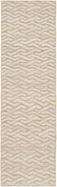 Sparrow Contemporary Beige Taupe Slate Fabric Runner (L 96 X W 30) SPW9000-268