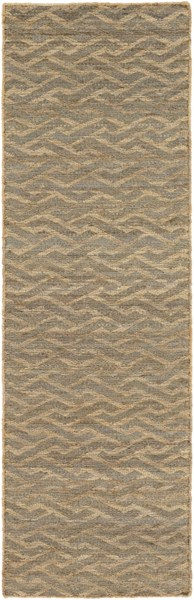 Sparrow Contemporary Taupe Slate Charcoal Fabric Runner (L 96 X W 30) SPW9001-268
