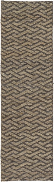 Sparrow Contemporary Taupe Slate Chocolate Fabric Runner (L 96 X W 30) SPW9002-268
