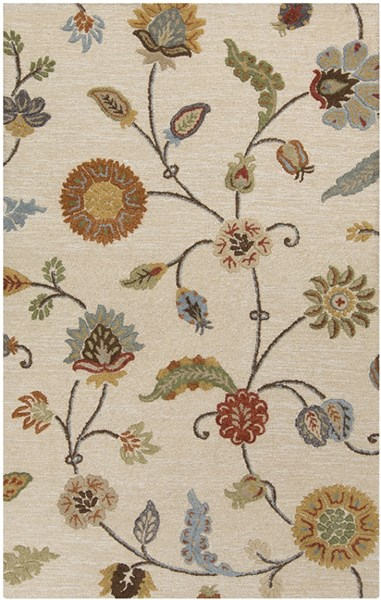 Sprout Taupe Burnt Orange Olive Fabric Area Rug (L 96 X W 60) SRT2002-58