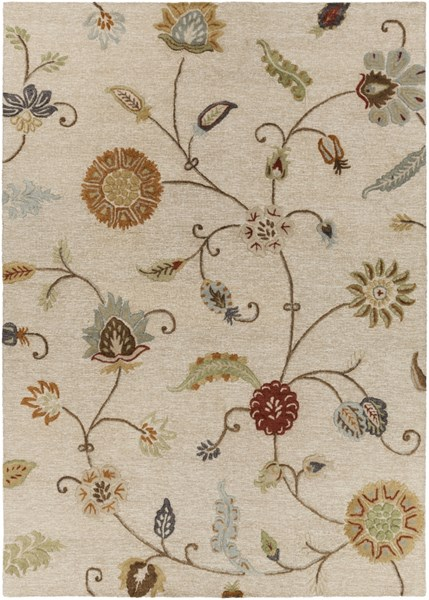 Sprout Taupe Burnt Orange Olive Fabric Area Rug (L 132 X W 96) SRT2002-811