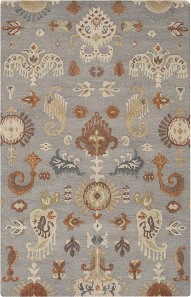 Sprout Moss Rust Slate Gray Fabric Area Rug (L 96 X W 60) SRT2007-58